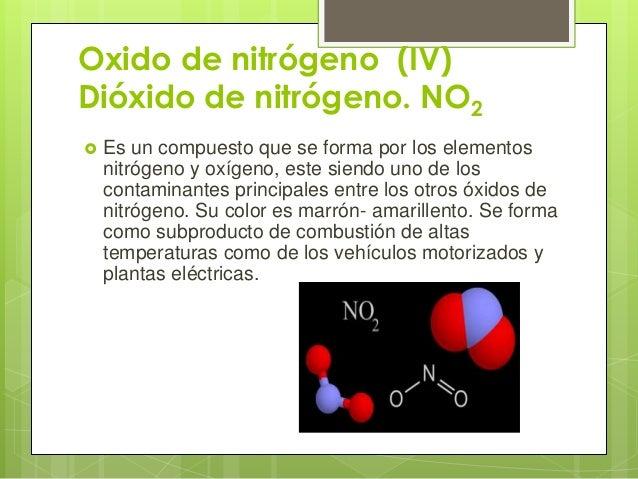 Ingenieria geografica y ambiental Oxidos de nitrogeno
