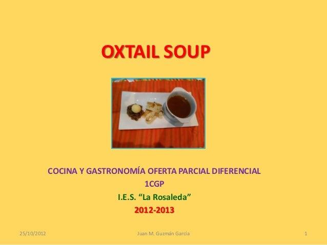OXTAIL SOUP             COCINA Y GASTRONOMÍA OFERTA PARCIAL DIFERENCIAL                                     1CGP          ...