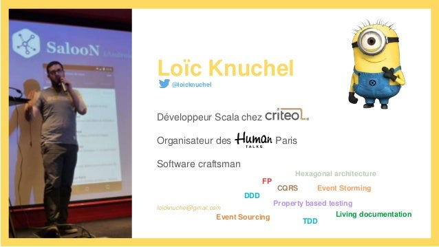Loïc Knuchel@loicknuchel Développeur Scala chez Organisateur des Paris Software craftsman loicknuchel@gmail.com DDD FP CQR...
