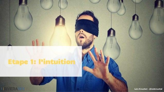 Loïc Knuchel - @loicknuchel Etape 1: l'intuition