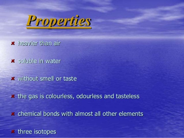 A Chemical Property Of Oxygen