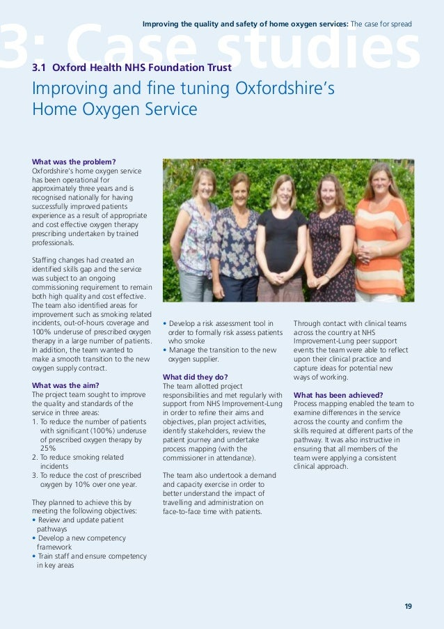 Ideas Sought On Improving Transition >> Improving The Quality And Safety Of Home Oxygen Services The Case Fo