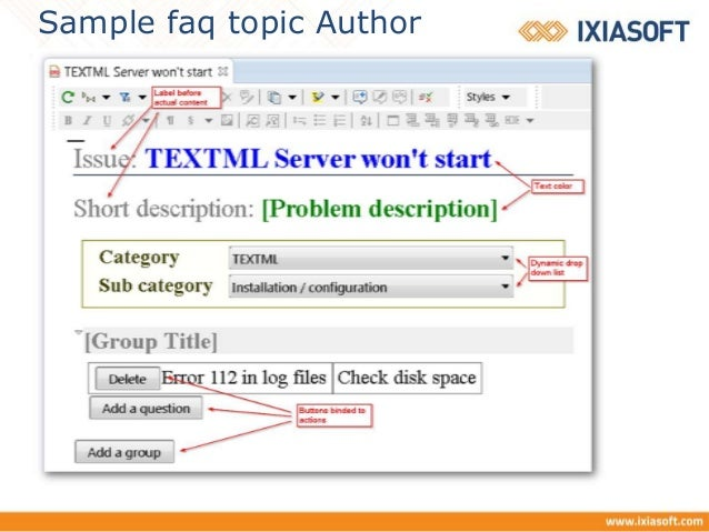 Using forms in oXygen XML editor