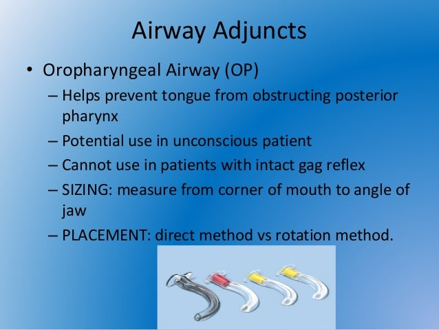 Airway Adjuncts And Oxygen Therapy