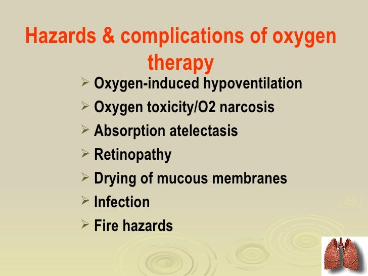 effectiveness of oxygen therapy for cardiac problems Minimize side effects of therapy  coexisting health problems  monitor oxygen therapy and abg's.