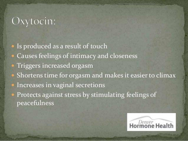 Orgasm hormones