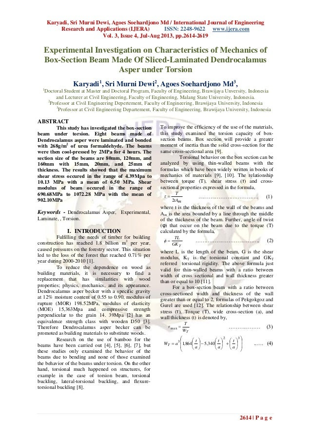 Karyadi, Sri Murni Dewi, Agoes Soehardjono Md / International Journal of Engineering Research and Applications (IJERA) ISS...