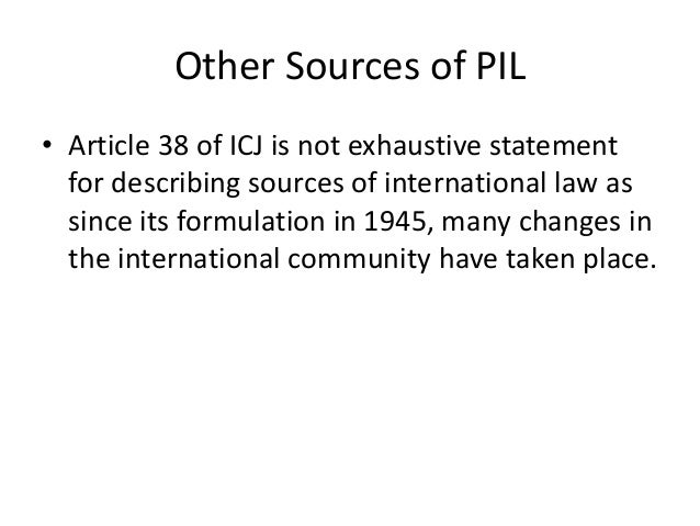 sources of international law notes