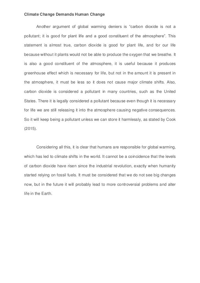 c oyarce mackay esu essay climate change demands human change climate change