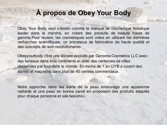 obey your body avis