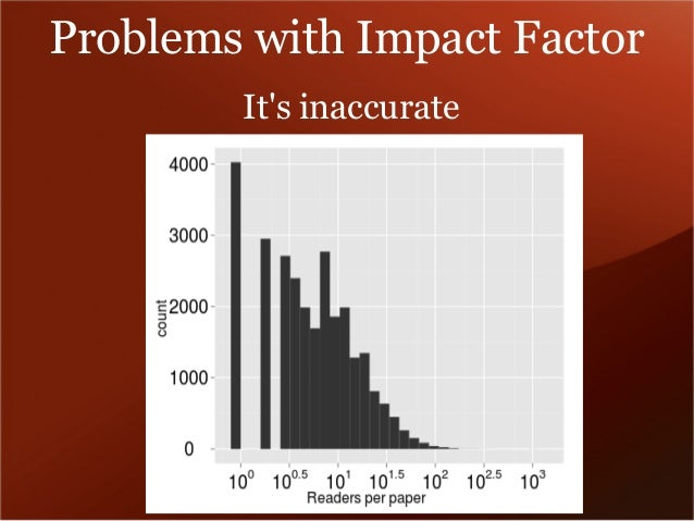 Problems with Impact Factor  It's inaccurate