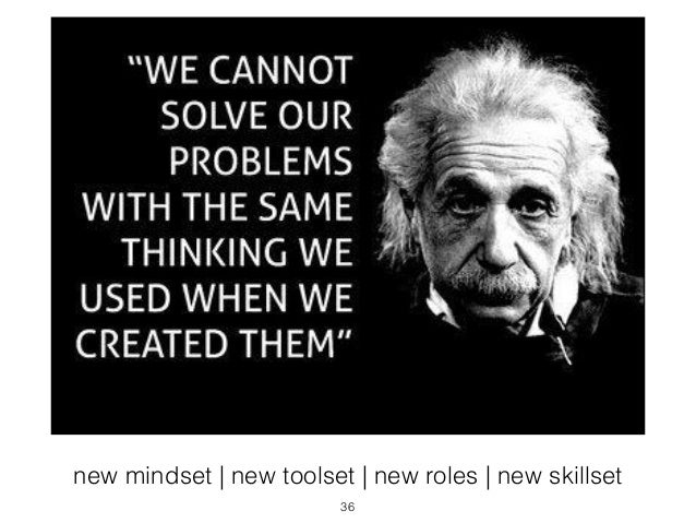 new mindset | new toolset | new roles | new skillset  36