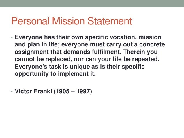 personal mission statement examples for students