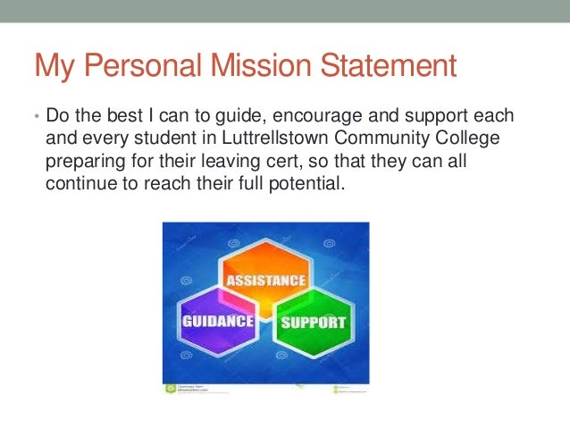 8 my personal mission statement