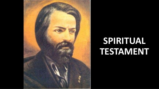 SPIRITUAL TESTAMENT