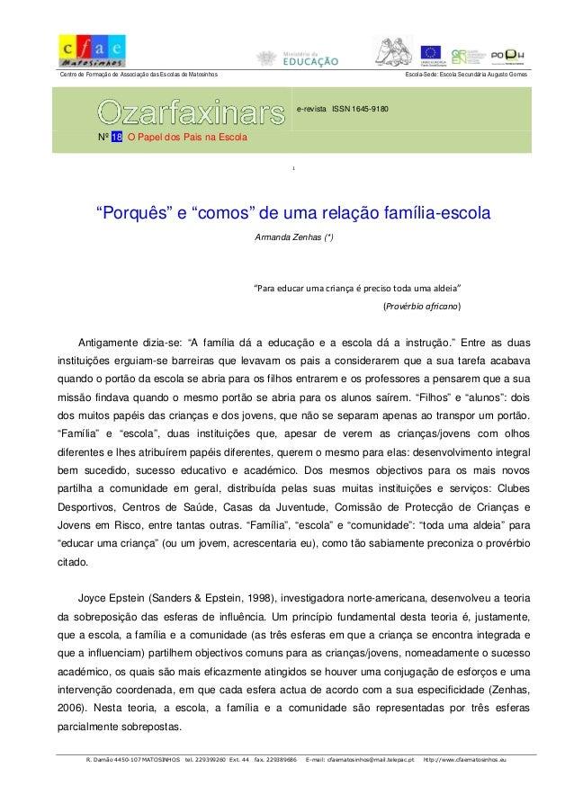 Centro de Formação de Associação das Escolas de Matosinhos Escola-Sede: Escola Secundária Augusto Gomes e-revista ISSN 164...