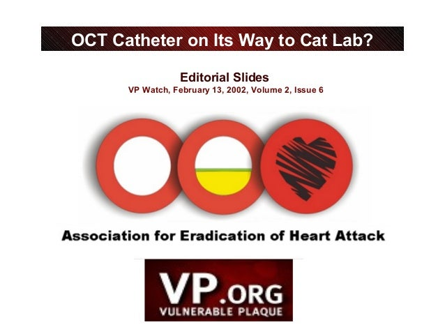 Editorial Slides VP Watch, February 13, 2002, Volume 2, Issue 6 OCT Catheter on Its Way to Cat Lab?