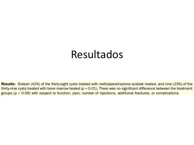 • Observación – Curación completa 27 – 100% (64%) • Observación v/s tratamiento activo? • Mejor alternativa de tratamiento?