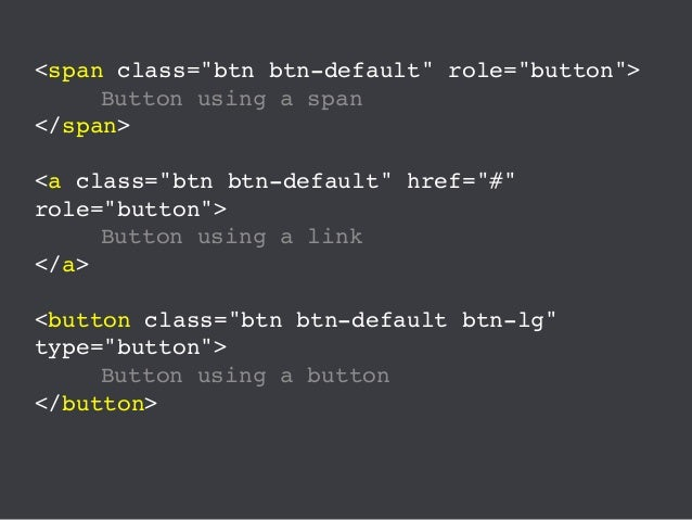 """Some developers have a tendency to throw the role=""""button"""" attribute onto span and link elements, assuming that this makes..."""