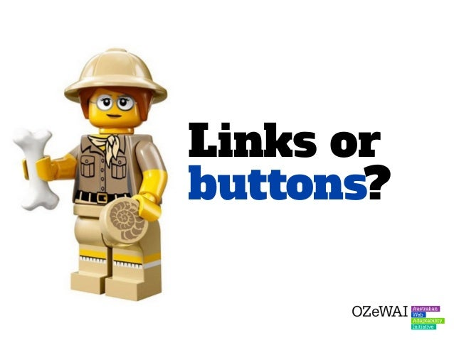 When using these button classes, developers are often confused about when to use a link or a button as the base element.