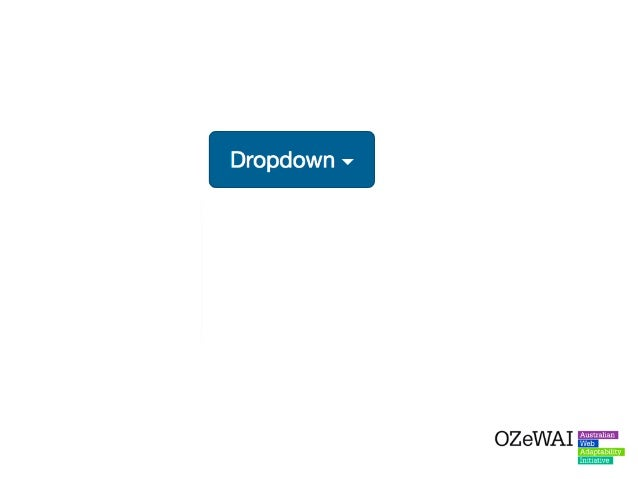 Solution: Provide some additional context inside the button so Screen Reader users understand the purpose of the dropdown.