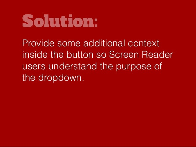 Solution: Possibly add ARROW key functionality to these elements so they can be accessed using the ARROW keys as well?