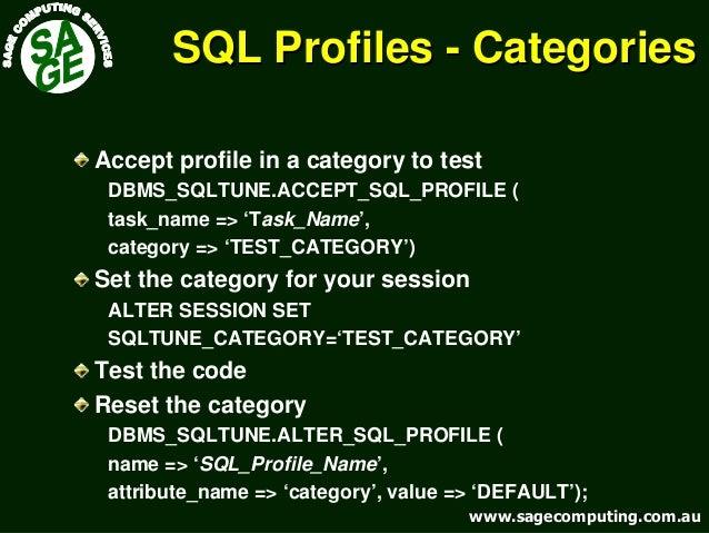 www.sagecomputing.com.auwww.sagecomputing.com.au SQL ProfilesSQL Profiles -- CategoriesCategories Accept profile in a cate...