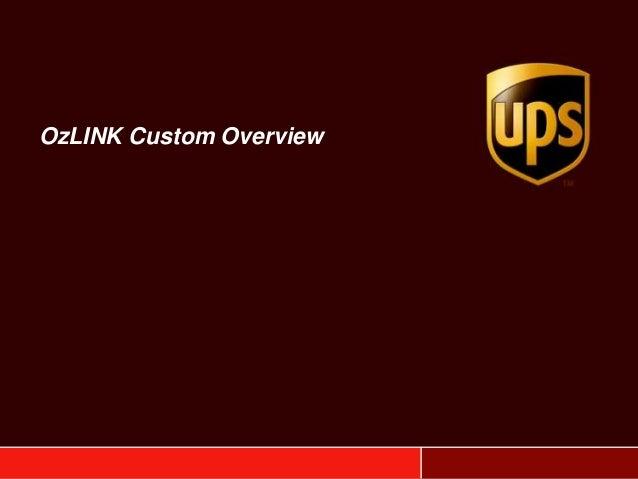 OzLINK Custom Overview