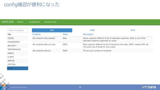 © 2017 NTT DATA Corporation 28 config確認が便利になった
