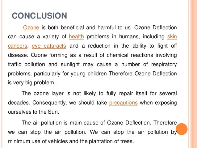 ozone layer depletion research paper The ozone layer diminishes more each year as the area of polar ozone depletion (commonly called the ozone hole) gets larger, additional ultraviolet rays are allowed to pass through.