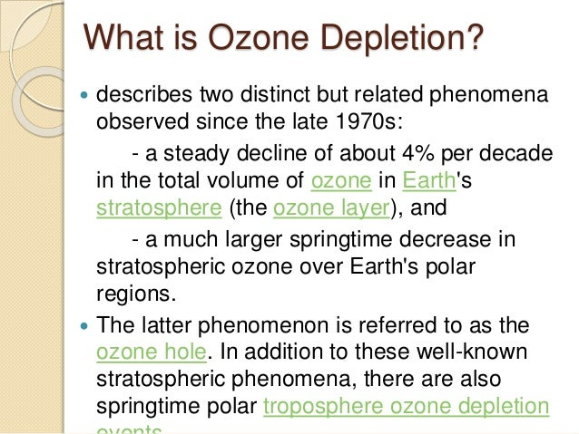 ozone depletion causes and effects ppt