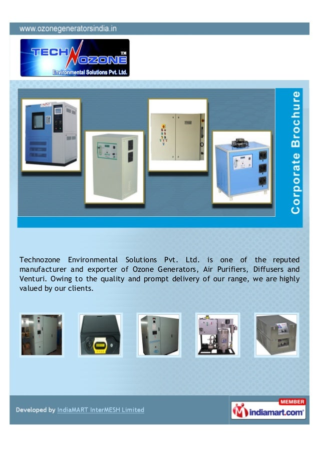 Technozone Environmental Solutions Pvt. Ltd. is one of the reputedmanufacturer and exporter of Ozone Generators, Air Purif...