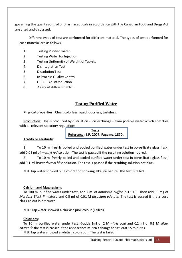 Industrial training report ozone pharmaceuticals training report yadclub Choice Image