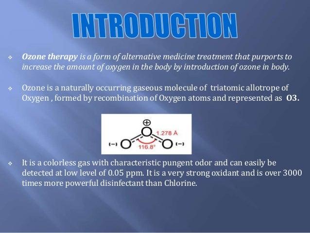 Ozone therapy an alternative medicine Slide 2