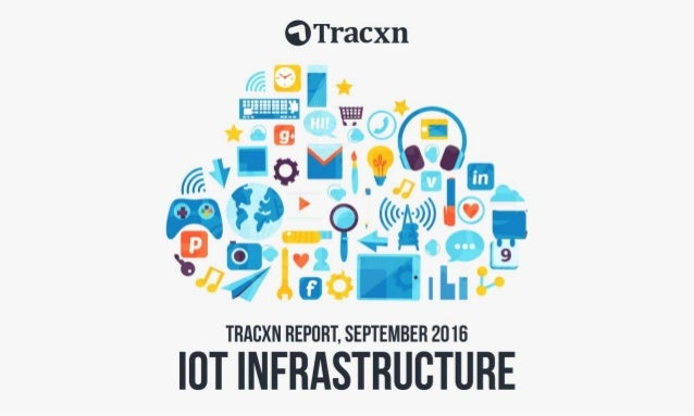 IoT Infrastructure Report, September 2016 Tracxn World's Largest Startup Research Platform 2
