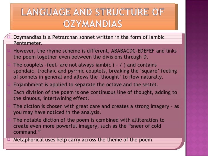 ozymandias poem analysis essay