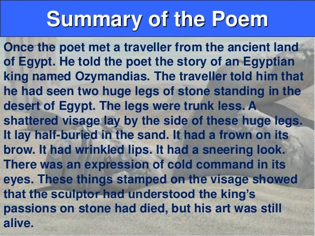 what is the meaning of ozymandias