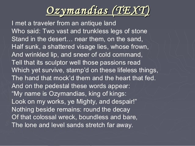 ozymandias author