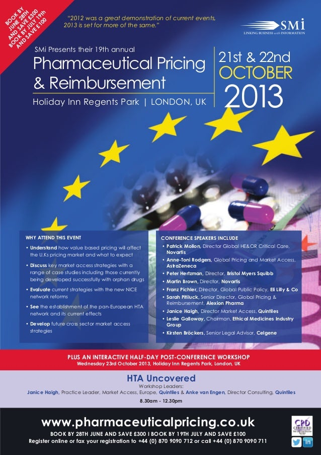 PLUS AN INTERACTIVE HALF-DAY POST-CONFERENCE WORKSHOPWednesday 23rd October 2013, Holiday Inn Regents Park, London, UKHTA ...