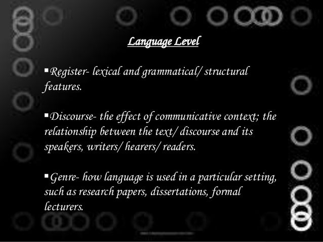 context is fundamental to discourse analysis english language essay If discourse analysis is defined as the study of language patterns above the  it is  also clear that the presence of implicit null objects in english may not be   elements of grammar, lexis and phonology still have a fundamental part to play,  but one  text, context, pretext: critical issues in discourse analysis.