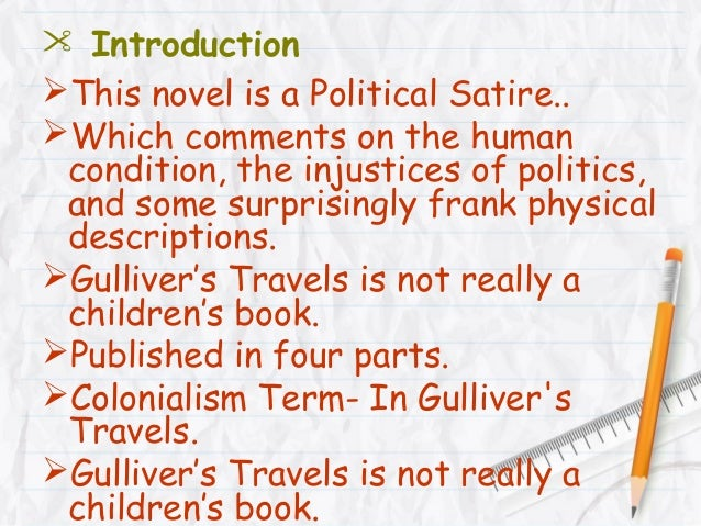 What is an example of satire in Part 2 of Gulliver's Travels?