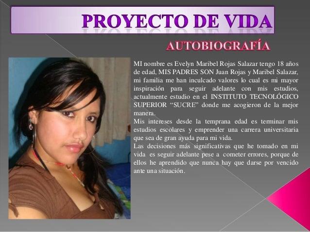 MI nombre es Evelyn Maribel Rojas Salazar tengo 18 años de edad, MIS PADRES SON Juan Rojas y Maribel Salazar, mi familia m...