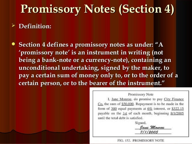 promissory notes – Promissory Note Parties