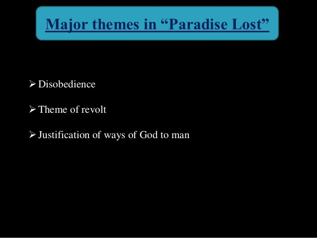 literary analysis essay on paradise lost Paradise lost is about adam and eve's loss of paradise their eating of the forbidden fruit has often been called the fall (as in, fall from innocence or fall.
