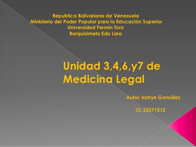 Republica Bolivariana de Venezuela Ministerio del Poder Popular para la Educación Superior Universidad Fermín Toro Barquis...