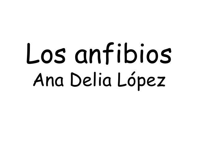 Los anfibios Ana Delia López