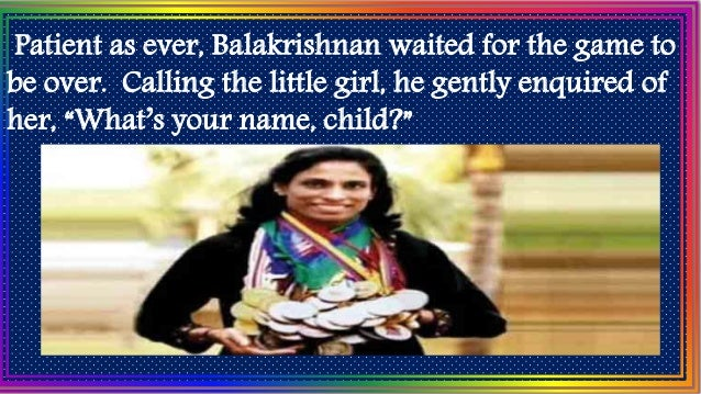 """The shy little girl hardly raised her eyes from the ground. """"Usha,"""" she whispered and added, """"from Class IV."""""""