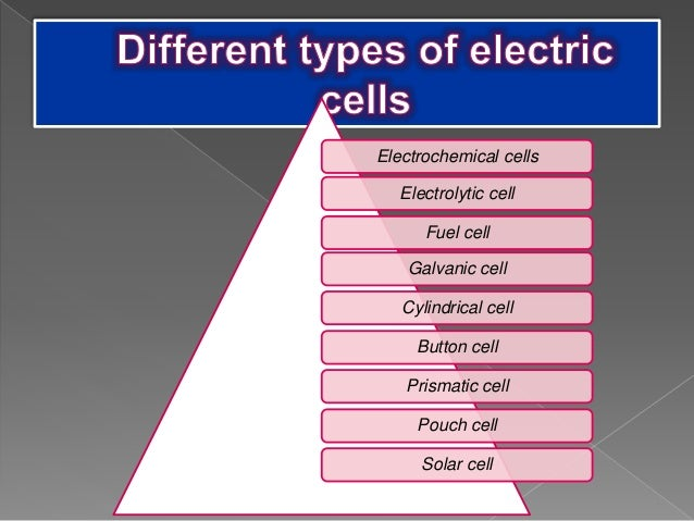 p p t on types of electric cells