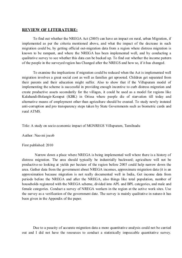 phd thesis on nrega Title: impact of mahatma gandhi national rural employment guarantee act  mgnrega on empowerment of rural people : a sociological study of.