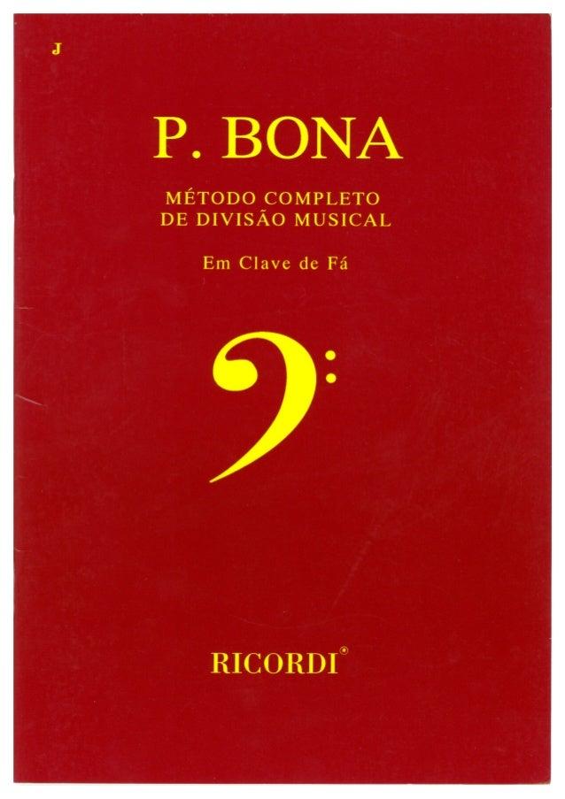 P. bona em Fá - Método Completo de Divisão Musical